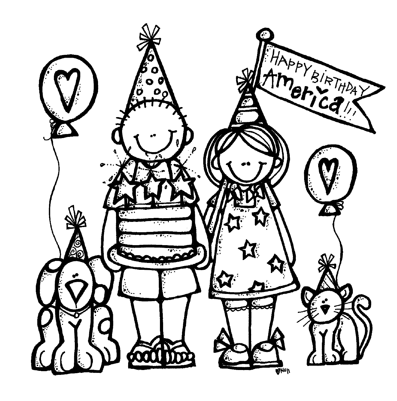 1385x1397 Happy birthday black and white birthday cake clip art free black