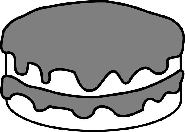 600x427 Plain Black And White Cake Clip Art