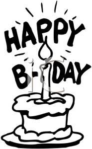 185x300 Birthday Cake Clip Art Black Clipart Panda