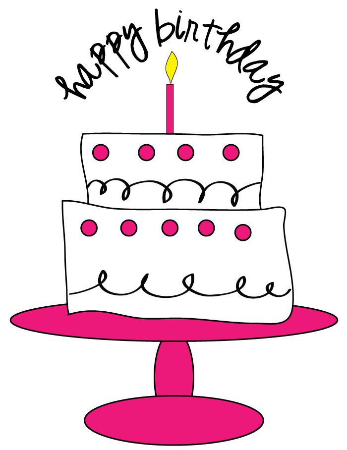 700x908 Birthday Cake Clip Art Black Clipart Panda