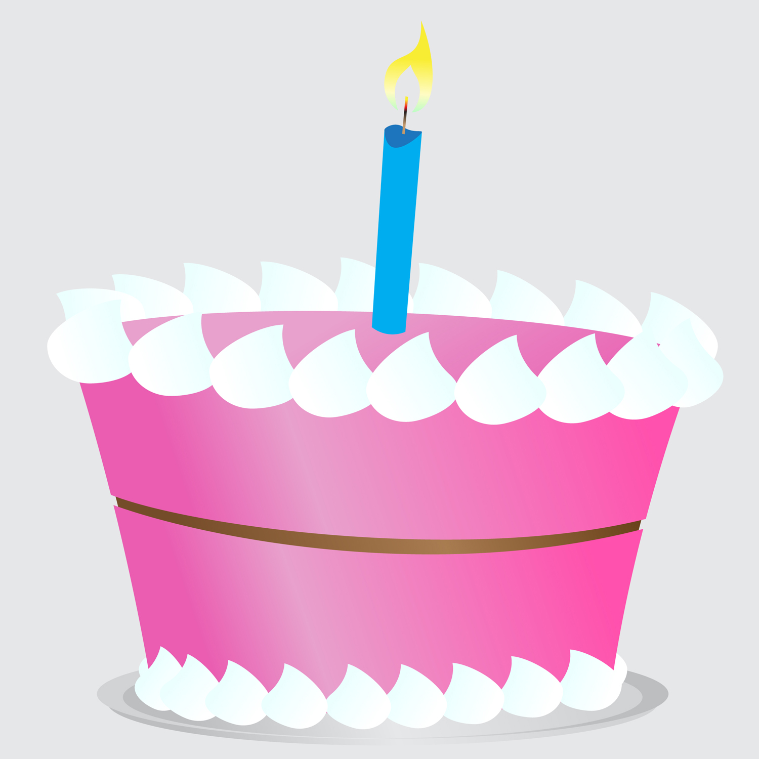 1500x1500 Pink Birthday Cake Clipart 2