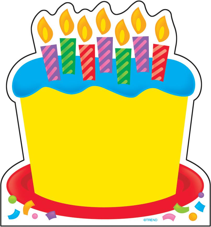 807x870 Yellow Birthday Cake Clipart