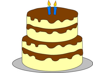 300x237 4 Layer Birthday Cake Clip Art