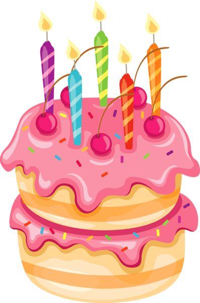 397x600 Pastel Clipart Birthday Cake