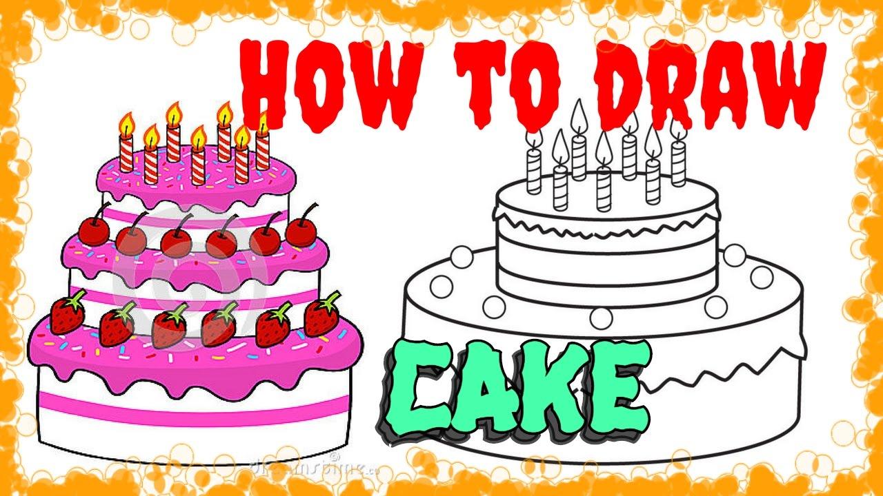 1280x720 Birthday Cake Pencil Drawing Photos Cupcake Painting On Color