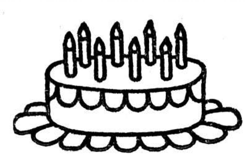 1024x682 Birthday Cake To Color Many Interesting Cliparts