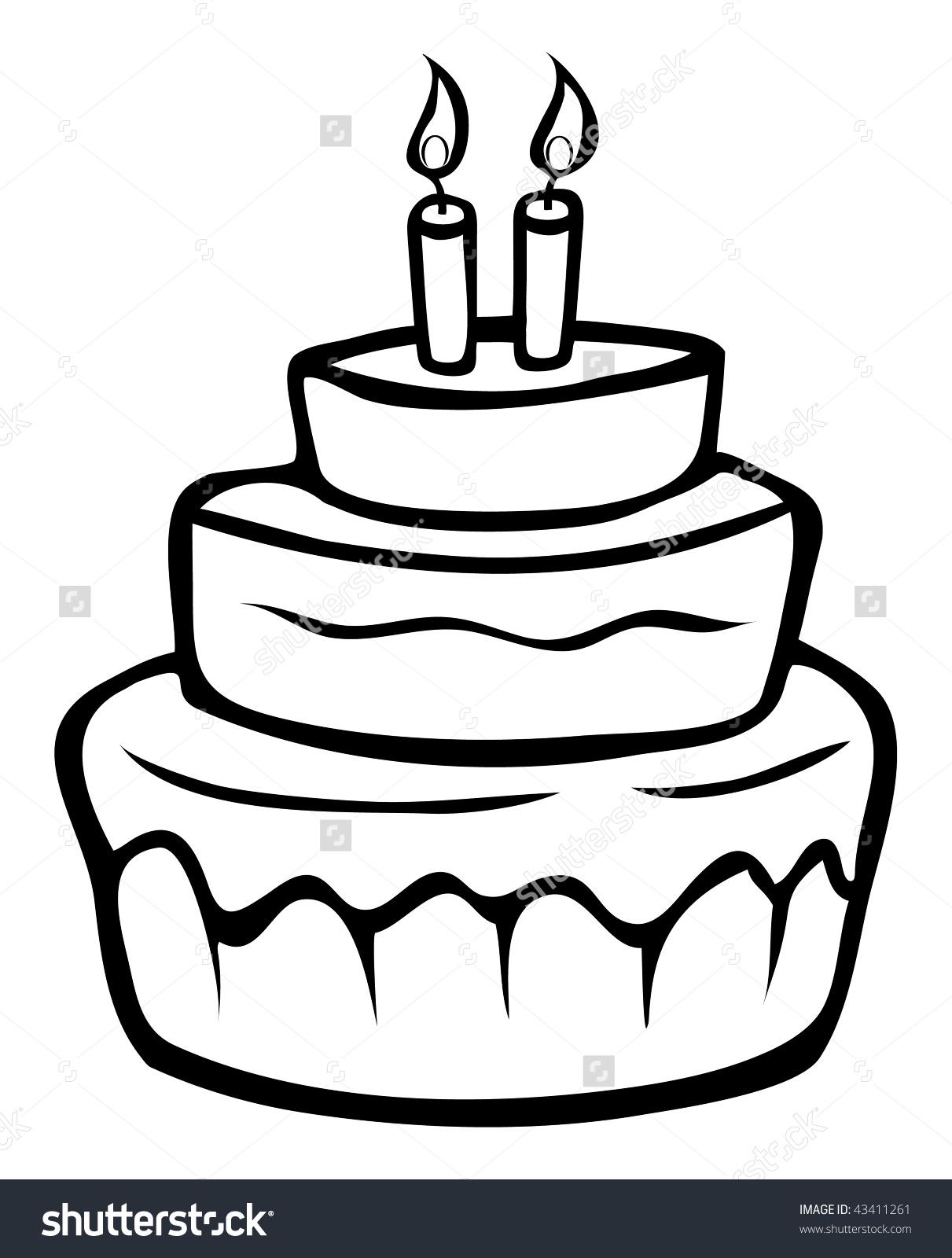 1211x1600 Cartoon Cake Drawing