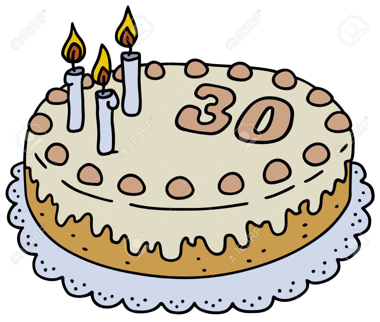 1300x1104 Draw A Birthday Cake Images