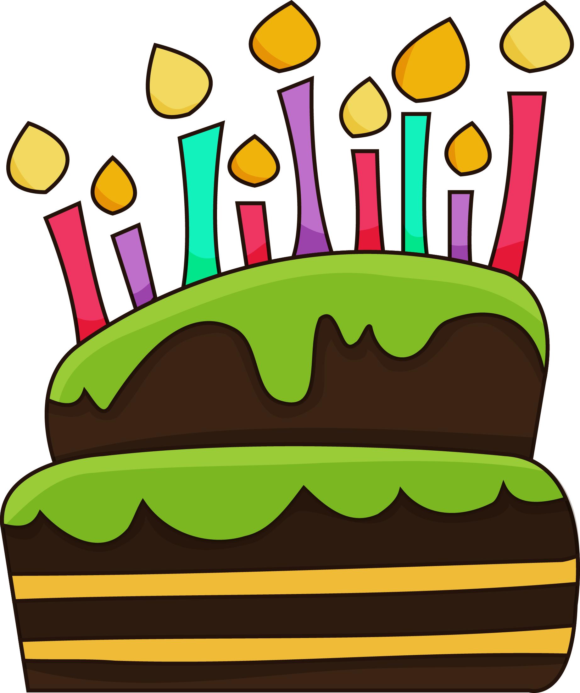 1844x2205 Drawn Birthday Birthday Cake