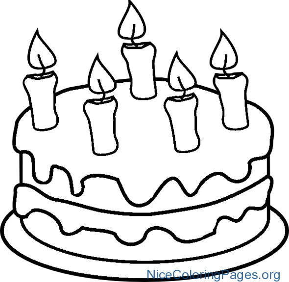 590x576 How To Draw Birthday Cake Step By Step For Kids