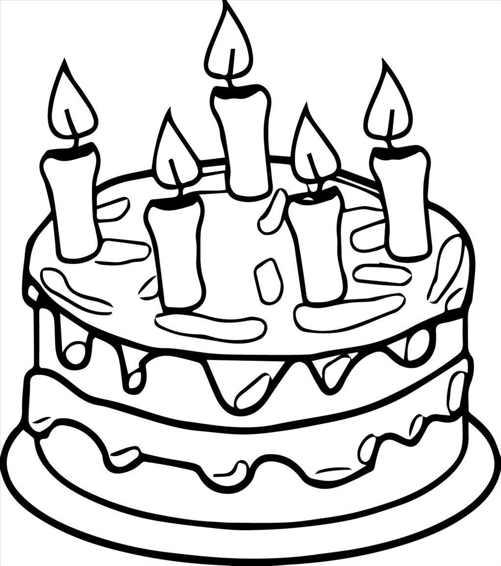 1023x1154 Simple Birthday Cake Drawing Images