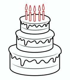 236x269 Download A Printable For How To Draw A Birthday Cake, Plus See