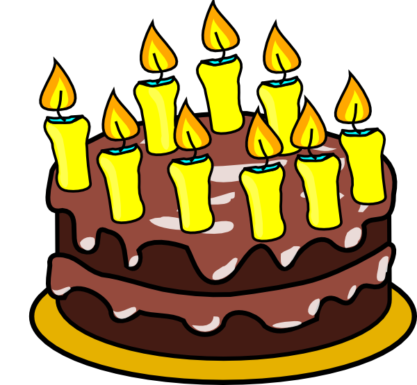 600x555 Clipart Of Birthday Cake With 50 Candles