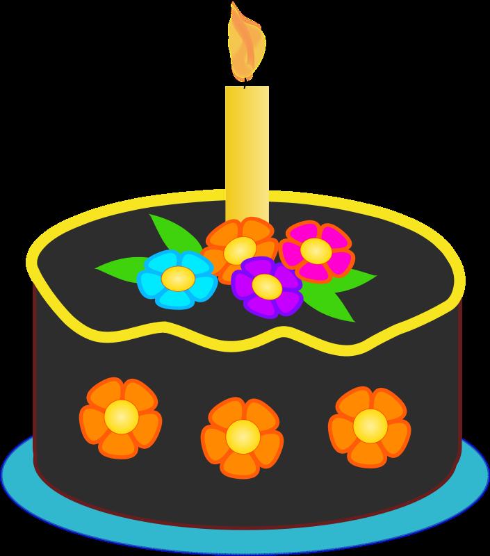 705x800 Free Birthday Cake Clipart Image