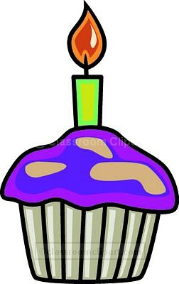 252x400 Birthday Clipart Cupcake