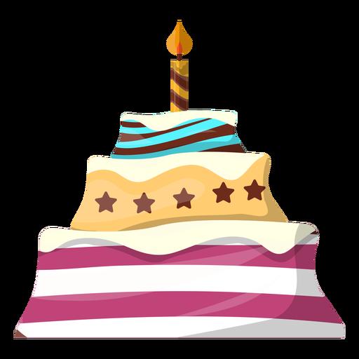 512x512 Flat Birthday Cake