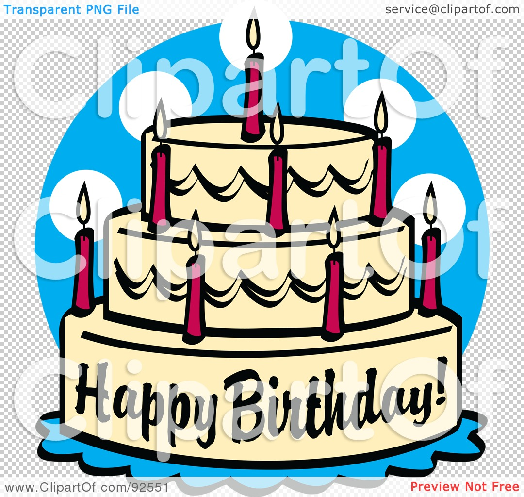 1080x1024 Royalty Free (Rf) Clipart Illustration Of A Triple Tiered Birthday