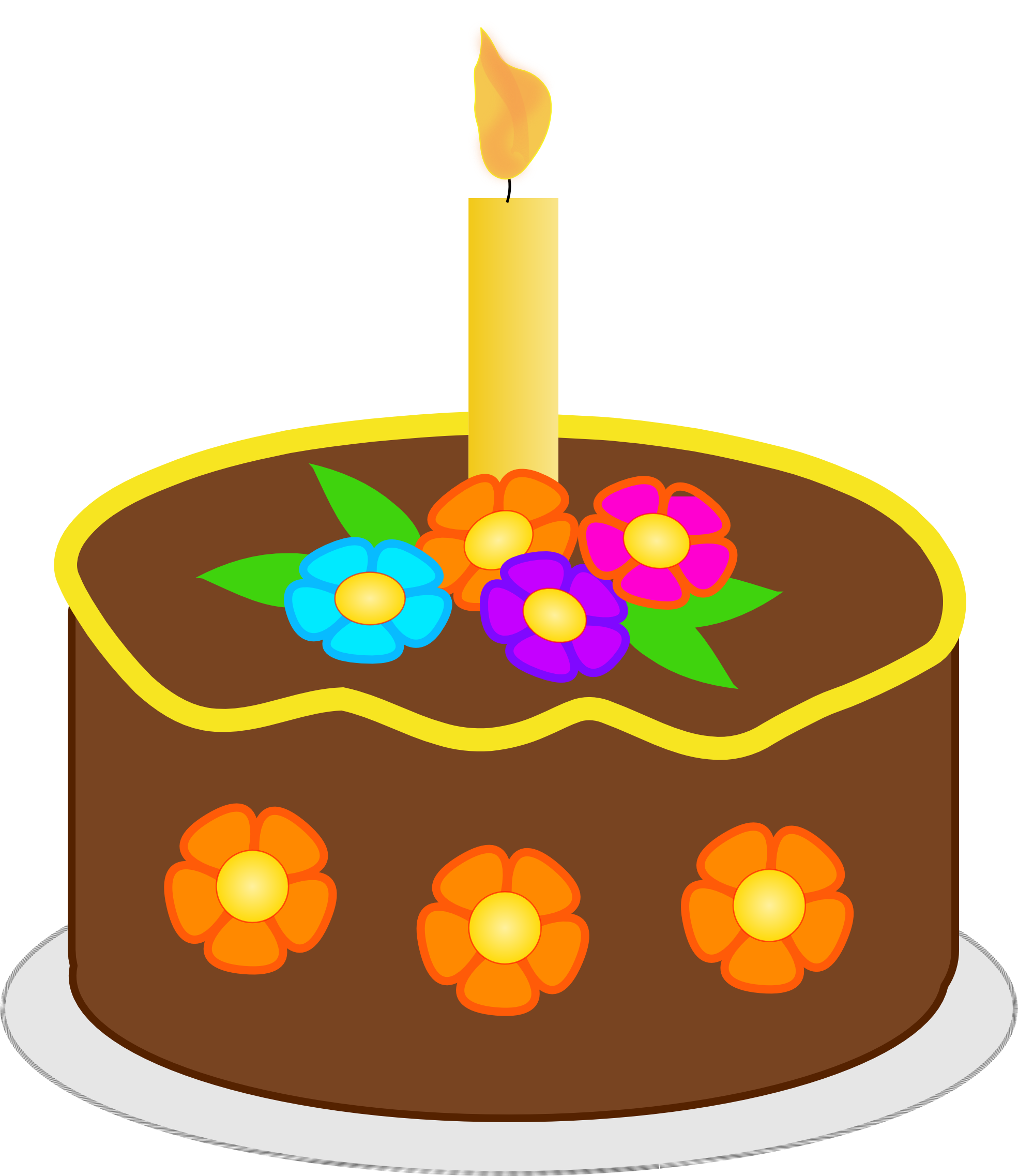 1969x2274 Clip Art Version2 Chocolate Birthday Cake