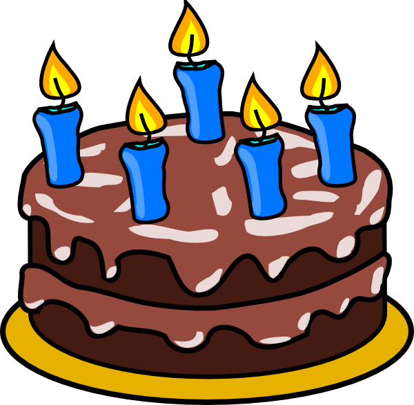 600x586 Birthday Cake 2 Clip Art