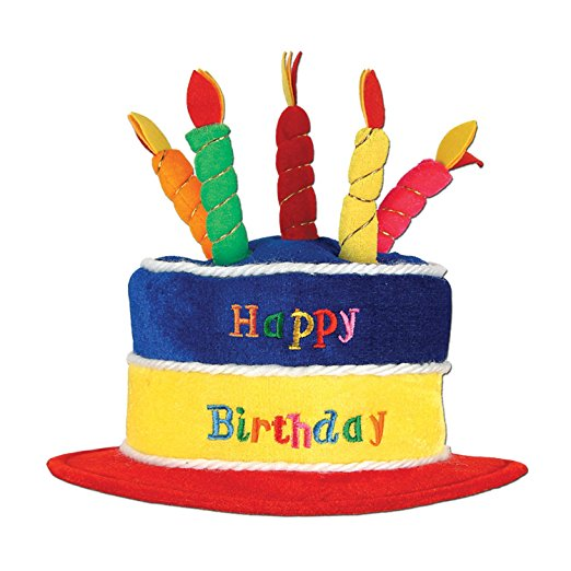522x522 Beistle 60717 Plush Birthday Cake Hat Kitchen Amp Dining