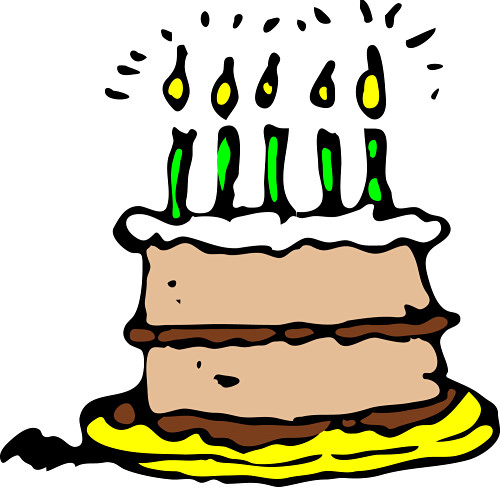 500x488 Birthday Cake On Fire Clipart