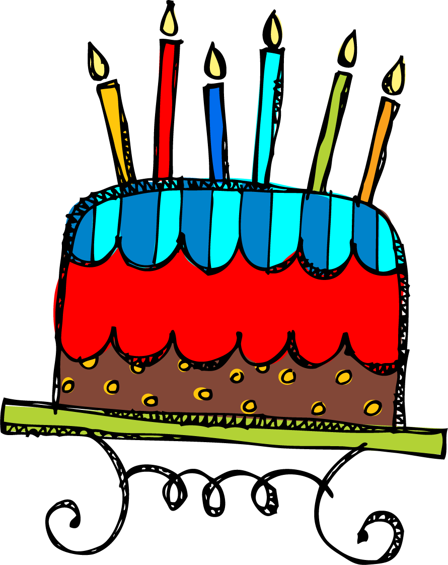 890x1122 Cake Birthday Clipart