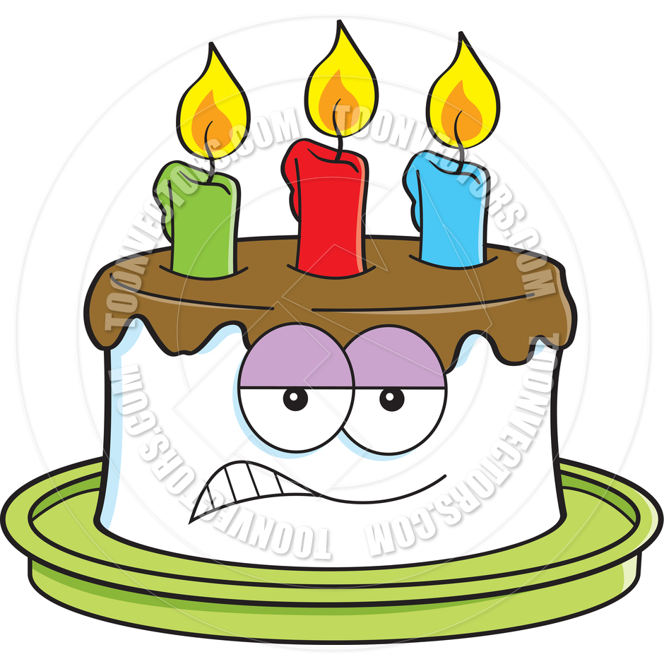 940x940 Cartoon Angry Birthday Cake By Kenbenner Toon Vectors Eps