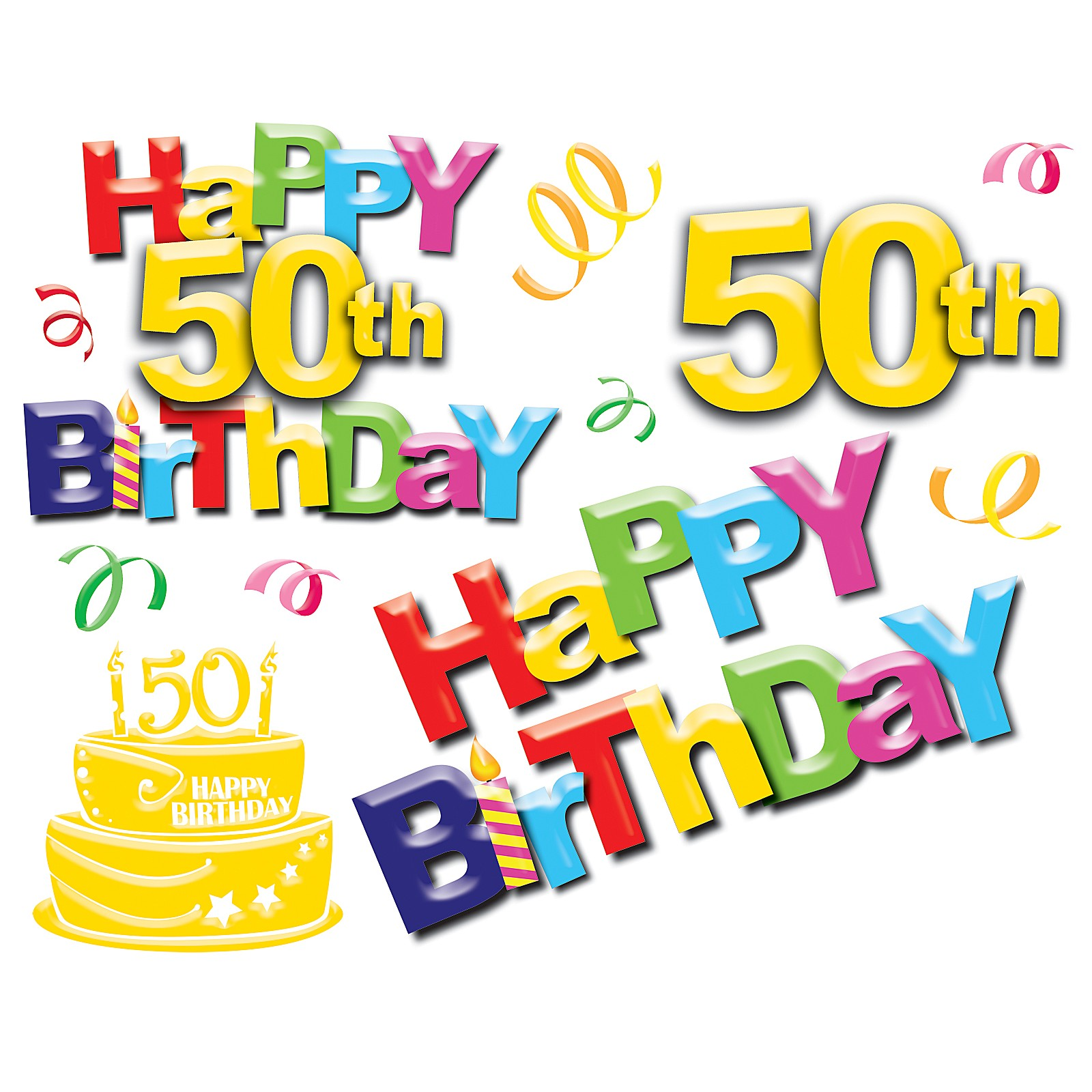1600x1600 Free 50th Birthday Clip Art