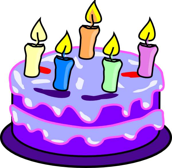 600x586 November Birthday Cake Clipart