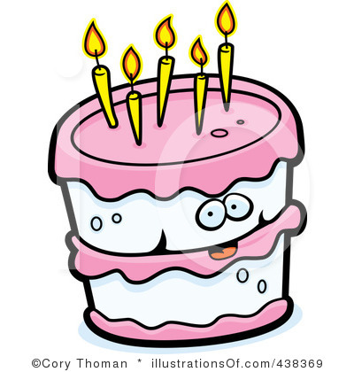 400x420 Pink Birthday Cake Clipart