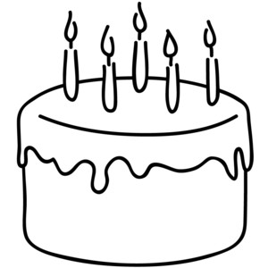 300x300 Birthday Cake Outline Clip Art