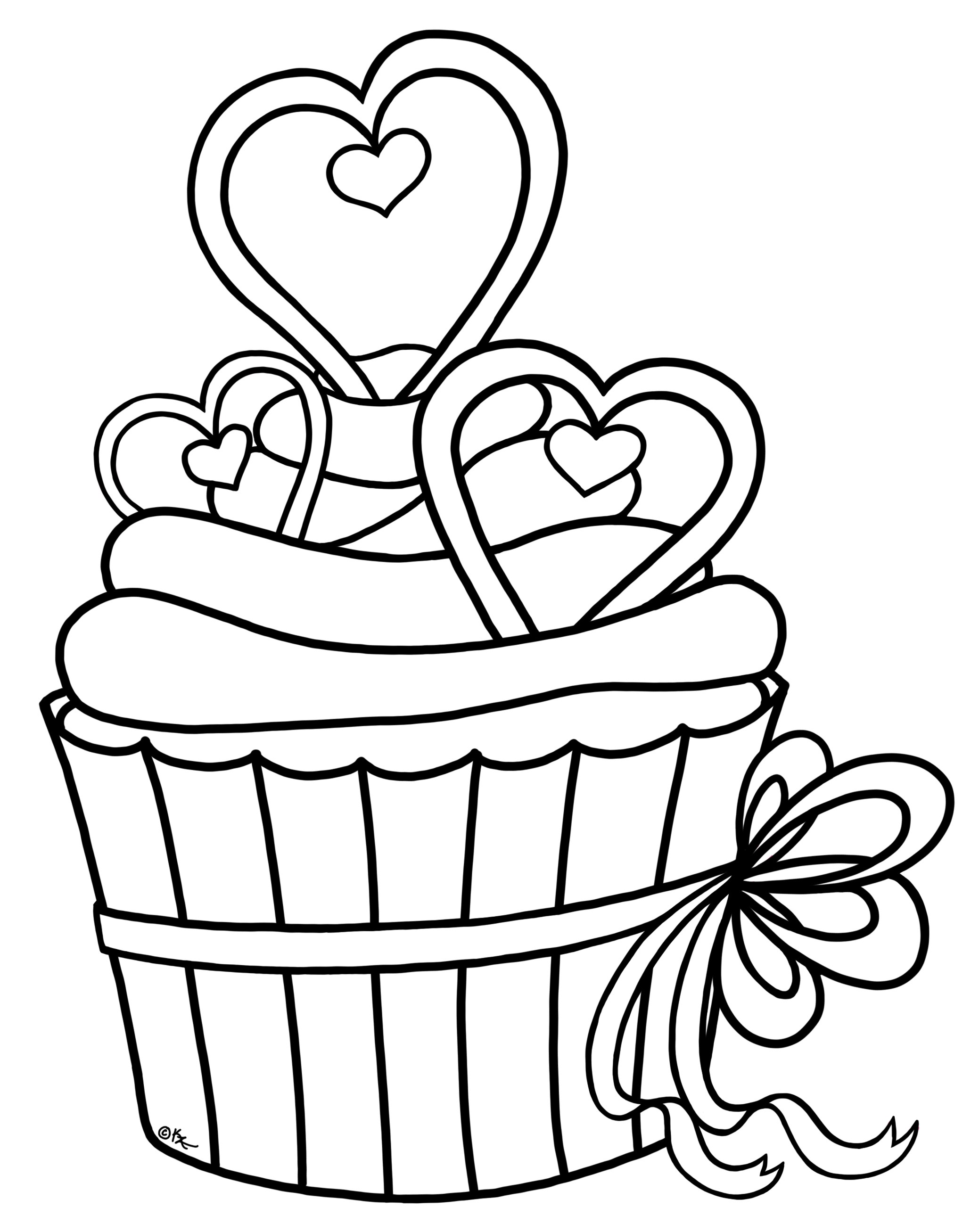 2077x2614 Birthday Cake Outline Images