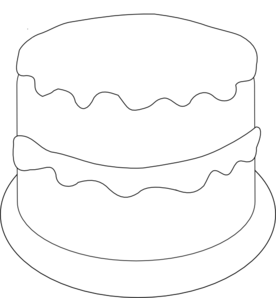 276x298 Birthday Cake To Color Clip Art