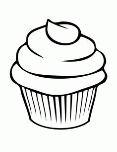 236x305 5 Best Images Of Printable Birthday Cupcake Outlines