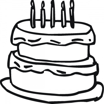 360x360 Cake Outline Clipart