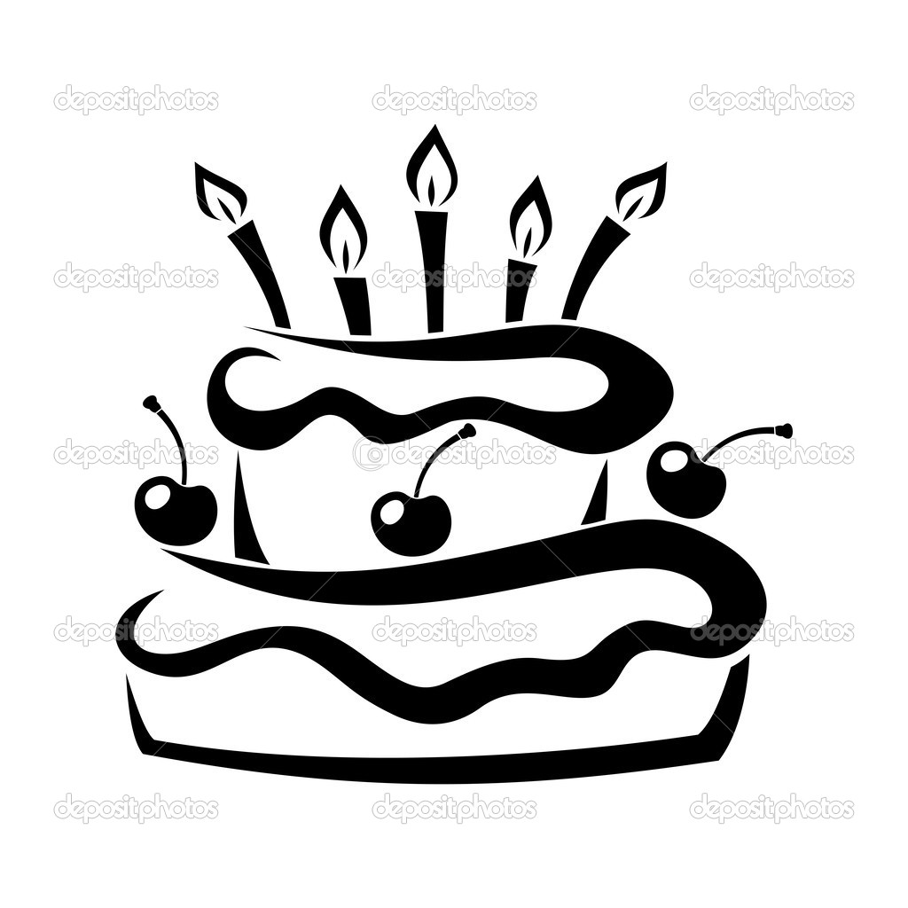 1024x1024 Cake Outline Vector