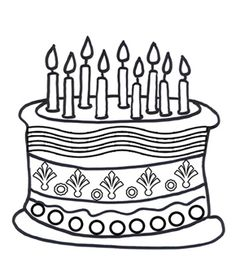 236x266 Fresh Design Birthday Cake Outline Black And White Printables