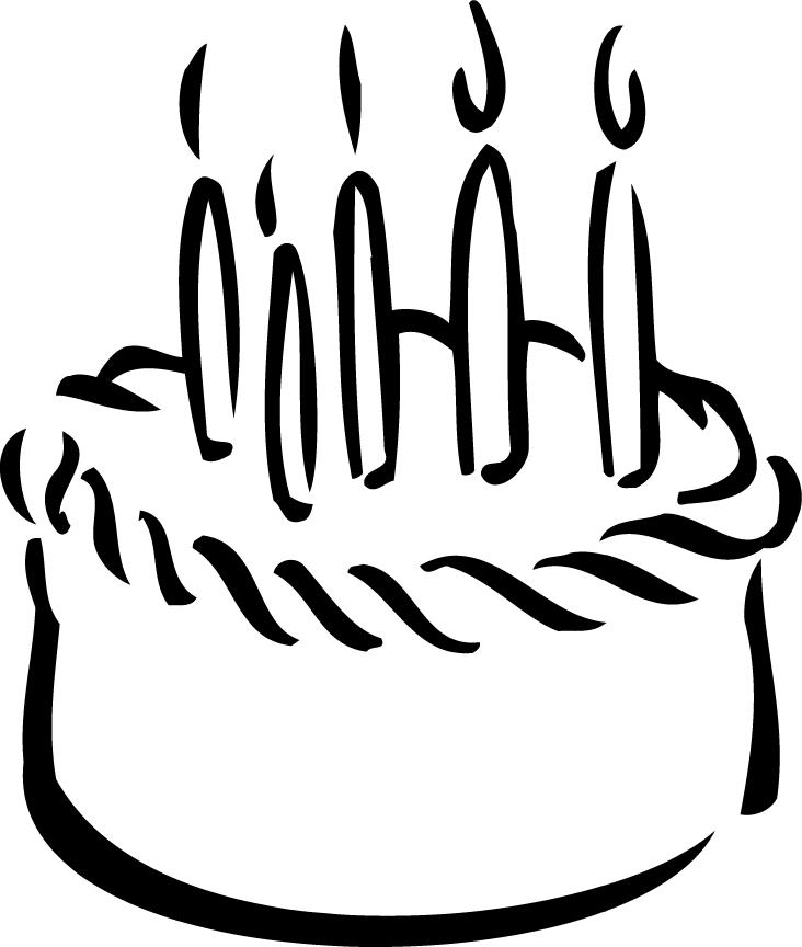 732x864 Birthday Cake Outline Printable For Kidz