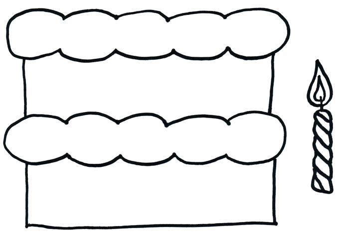 684x478 Cake Outline