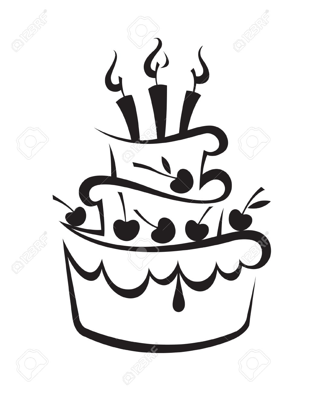 1063x1300 Birthday Cake Clipart Black And White Free Choice Image