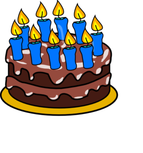 Birthday Cake With Lots Of Candles Clipart