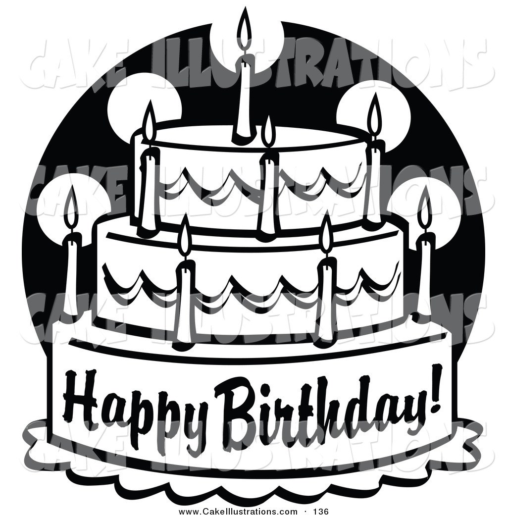 1024x1044 Birthday Cake Clipart Black And White Image Collections