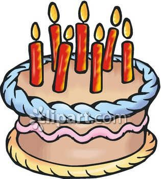 315x350 Birthday Cake With Candles For Boy Clipart