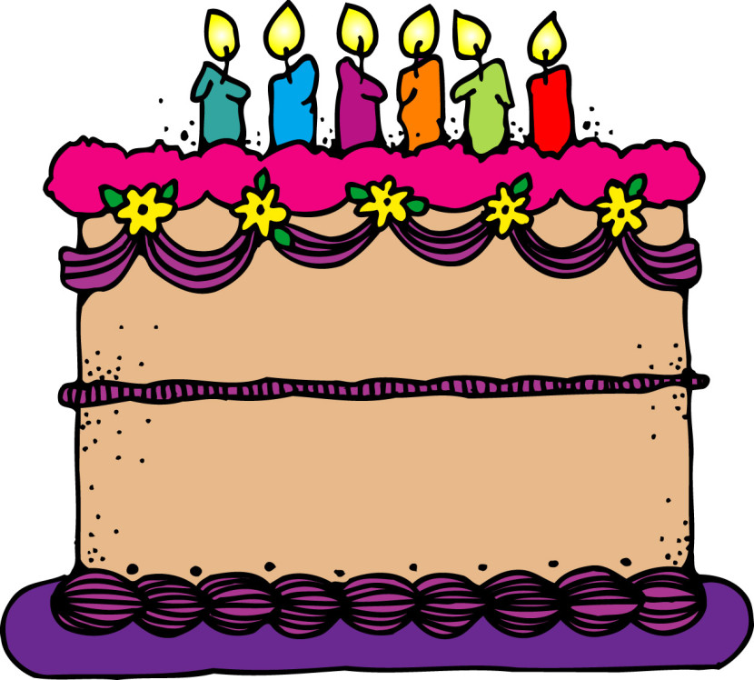 830x748 Free Clipart Of Birthday Cake