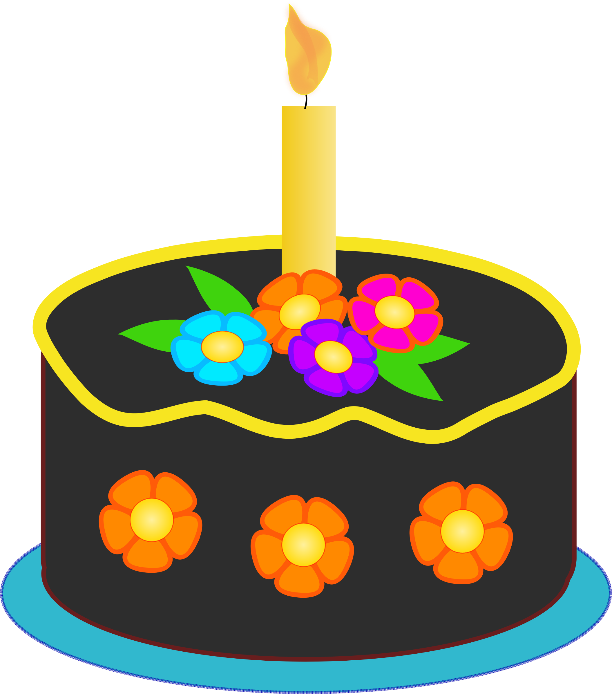 2110x2392 Free Birthday Cake Clip Art