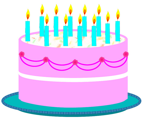 500x406 Free Clipart Birthday Cake