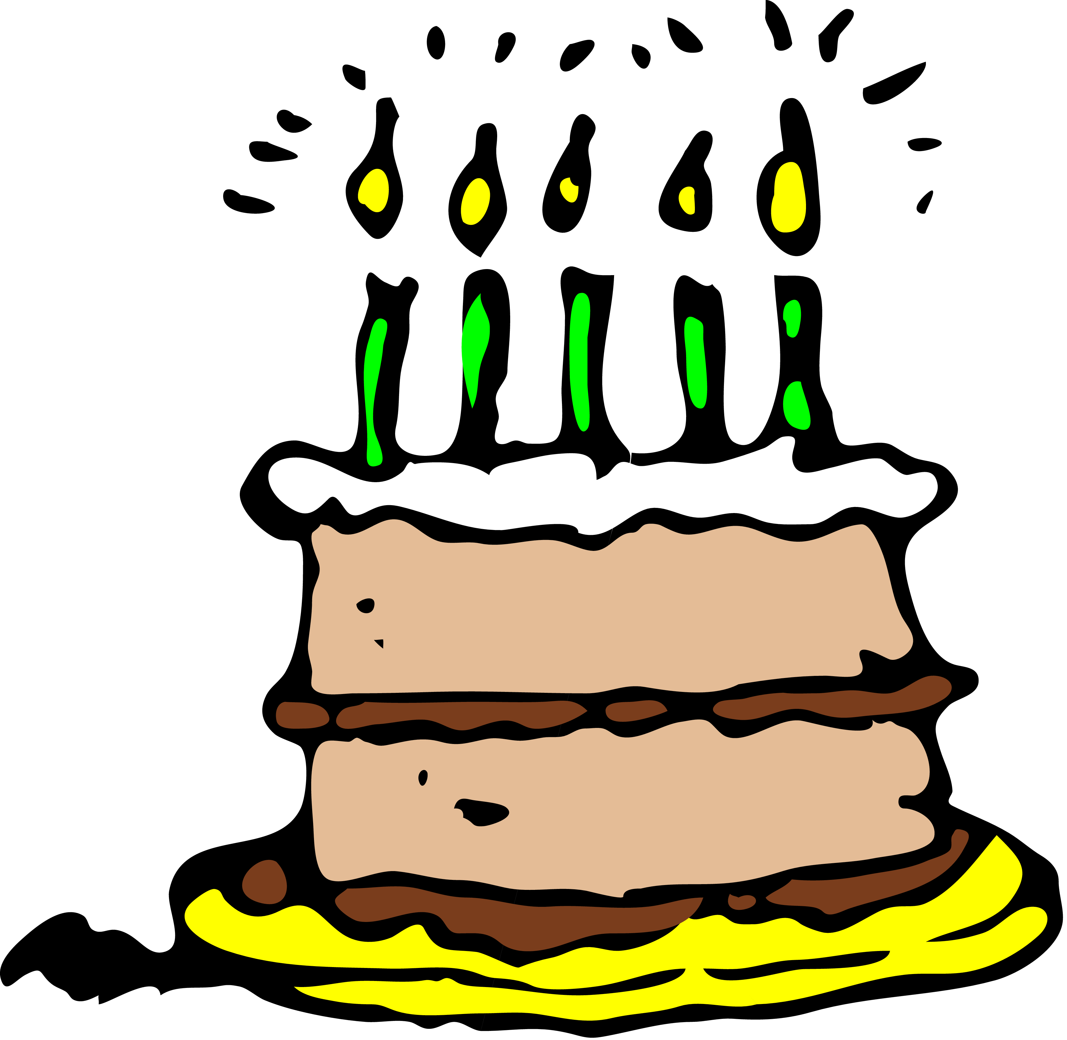 3524x3436 Images Of Birthday Cakes Clip Art Clipartcow