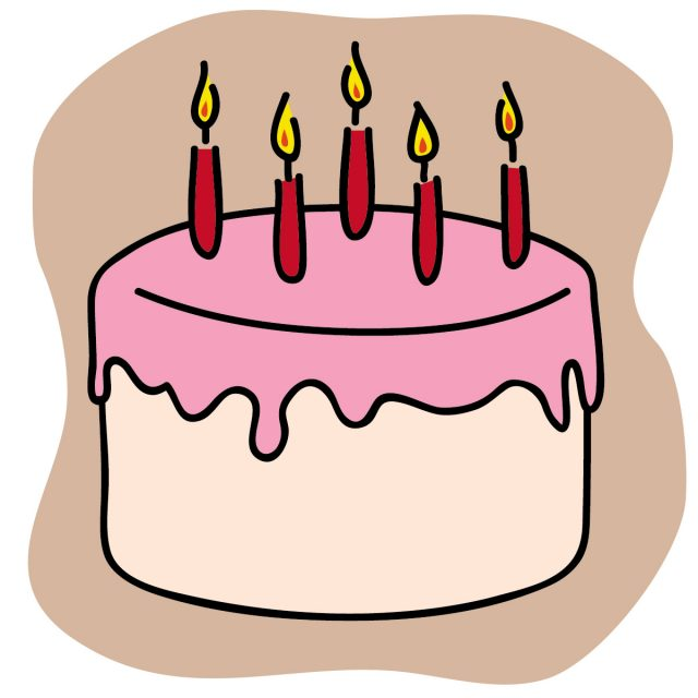 Birthday Cake With Lots Of Candles Clipart Free Download Best