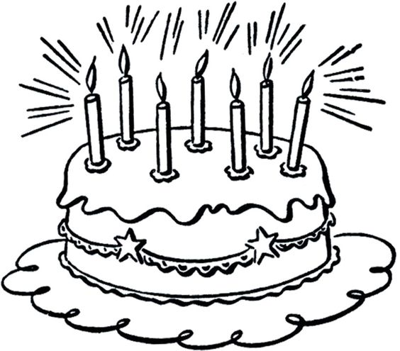 564x495 Cake And Candles Clipart
