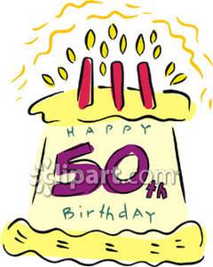 240x300 Free 50th Birthday Clip Art